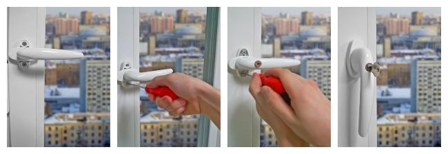 Замена ручки пластиковой двери